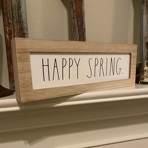 "Brand New Rae Dunn "" HAPPY SPRING"" sign"